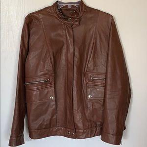 LAUREN By Ralph Lauren Women's Soft Leather Jacket